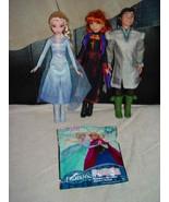 Disney Frozen Lot Of 3 Elsa Anna Kristoff Doll Figures & Puzzle - $57.00