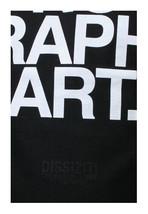 Dissizit Nero da Uomo No Grafico Arte T-Shirt Made IN USA Compton California Nwt image 2