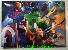 Lego Super hero Hulk Spiderman Light Switch Outlet wall Cover Plate Home decor image 5