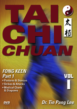 TAI CHI CHUAN #1 Fong Keen Square Form Part 1 DVD Tin Pang Lee yin yang - $26.50