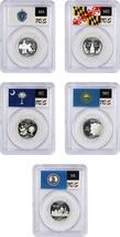 2000-S Statehood Quarter Set 25c PCGS PR 69 DCAM (Silver, 5 Coins) - $82.45
