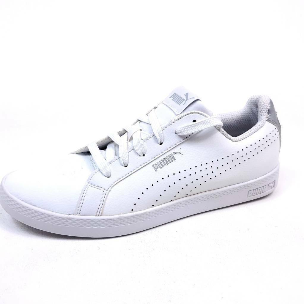 Puma Womens 9.5 Smash Tennis Shoes Sneakers White 36623801 2018 Low Top - $22.89