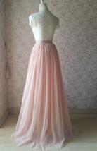 Cream Ivory Tulle Maxi Skirt High Waisted Plus Size Ivory Long Maxi Tulle Skirt image 12