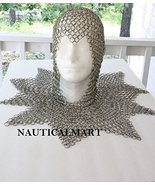 Game Of Thrones Inspired Knight's Coif With Mantle Chainmail Armor Custome - $299.00