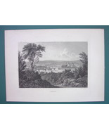 GERMANY City of Hameln - 1887 Steel Engraving by Cpt. Batty - $11.10