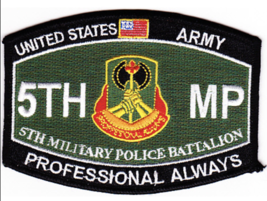 "4.5"" Army 5TH Military Police Battalion Professional Always Embroidered Patch - $17.09"