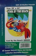 Two Flag Group Co 05025 Cool By The Beach Indoor Outdoor Decorative Banner image 3