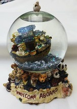 Boyds Bearstones #270505 Mr & Mrs Noah & Co Resin Musical Water Globe-2E - $59.35