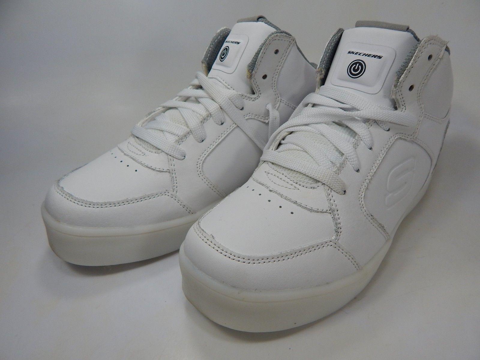 Skechers Boy's Lights Energy Light-Up Size 5 Y EU 37 High-Top Sneaker - White