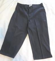 Women's Calvin Klein J EAN S Black Cotton Stretch Capris Cropped Pants Sz 12 - $15.00
