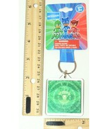 GREG GEKKO FROM PJ MASKS DISNEY JUNIOR - LUCITE GREEN FOIL KEYCHAIN NEW ... - $3.88