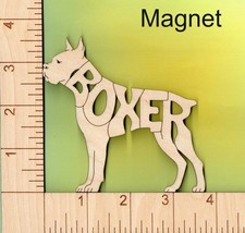 Boxer Dog laser cut and engraved wood Magnet Great Gift Idea - $6.00