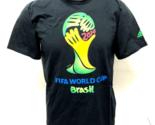 "Youth adidas Brasil FIFA 2014 World Cup Tee Black T-shirt ""XL"""