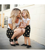 Nts mom and daughter sets dots clothes mom daughter vestidos family matching clothes 7 thumbtall