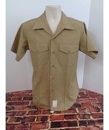 USMC Marine Corps Khaki Dress SS Shirt Medium US Military Uniform Marine... - $20.82