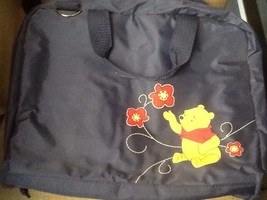 "Disney,""Winnie the Pooh"" Navy Blue Nylon Travel Diaper/Messenger Bag Uni... - $18.95"
