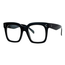 Super Oversized Clear Lens Glasses Thick Square Frame Fashion Eyeglasses - $8.86+