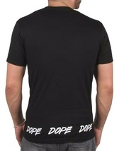 Dope Couture Tagged Hem Tee Black - White Cotton Short Sleeve Tee Print T-Shirt image 2
