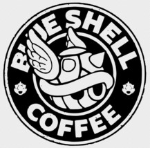 Mario Blue Shell Starbucks Decal Car Glass Laptop Wall Free Gift With Purchase - $6.00+