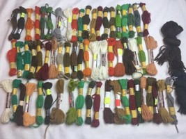 60+ Skein Lot DMC Laine Floralia Wool Tapestry Needlepoint Yarn Lot Bucilla - $32.71