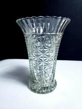 "Vintage Anchor Hocking Stars & Bars 1000 Line 8.5"" Flower Vase - $7.38"