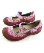 Keen Dark Magenta Geometric Mary Janes Slip On Comfort Shoes Womens 6 - $34.55