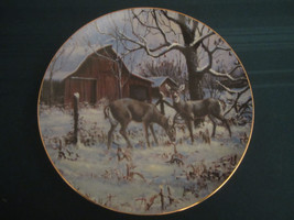 "COUNTRY CHRISTMAS 1990 Collector Plate LOWELL DAVIS ""Wintering Deer"" RAR... - $60.00"