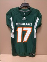 New Adidas Men's Miami Hurricanes Techfit Hyped Football Jersey Size Large - $37.99