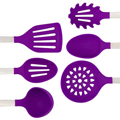 purple kitchen utensil set - stainless steel and 28 similar items