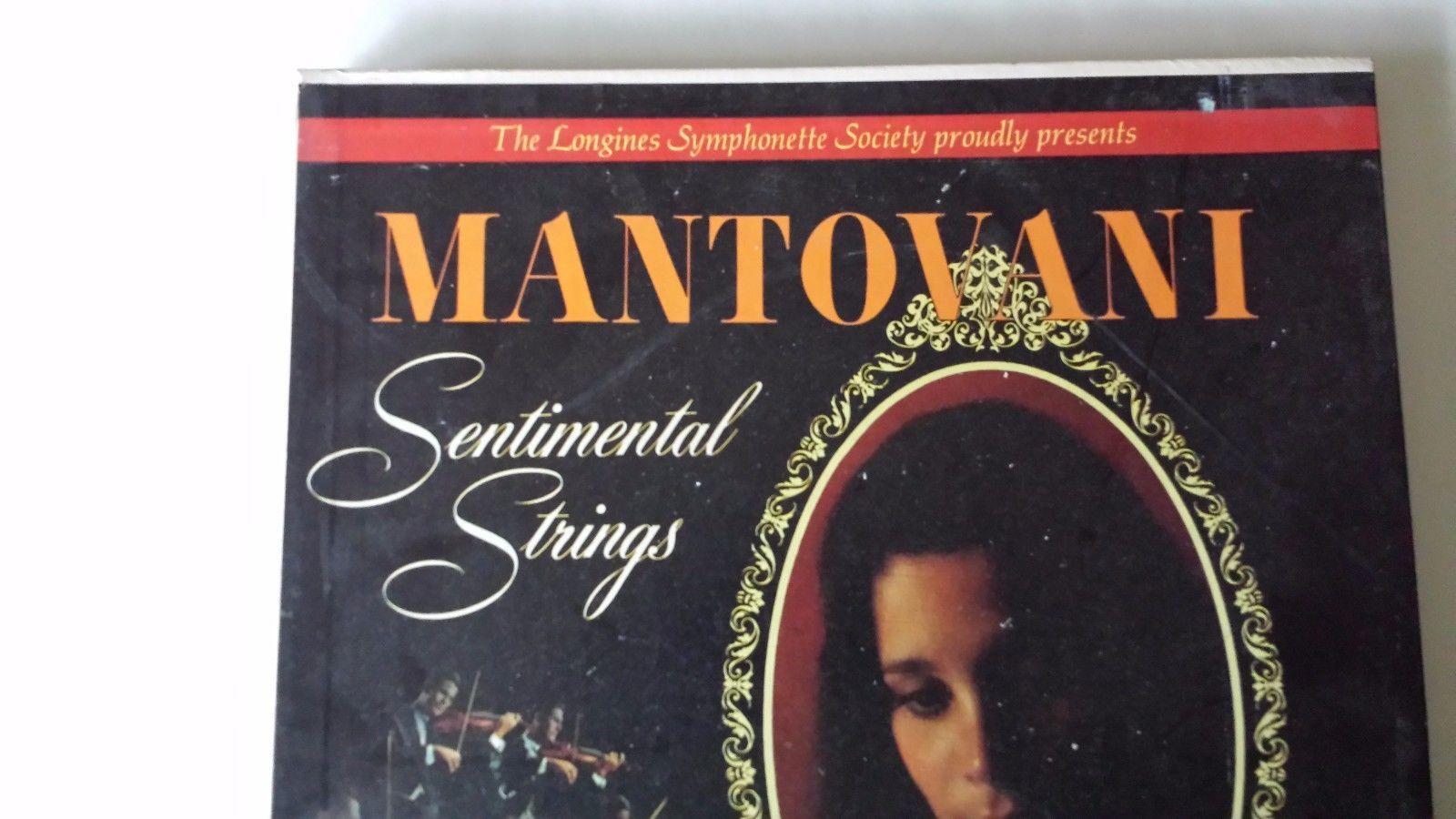 Longines Mantovani Sentimental Strings 5 Record Box Set LP Records Orchestra
