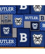 College Butler University Bulldogs Blue Team Fleece Fabric Print by Yard... - $12.97