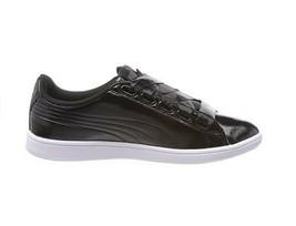 Puma Damen Vikky Ribbon P Schuhe Silber Schwarz Größe EU 38 - $57.34