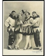 Four Fantinos Acrobatic Dance Troupe Circus Performers Walery PARIS Phot... - $54.99