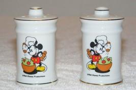 Disney Mickey Mouse Salt & Pepper Shakers Euc - $19.99