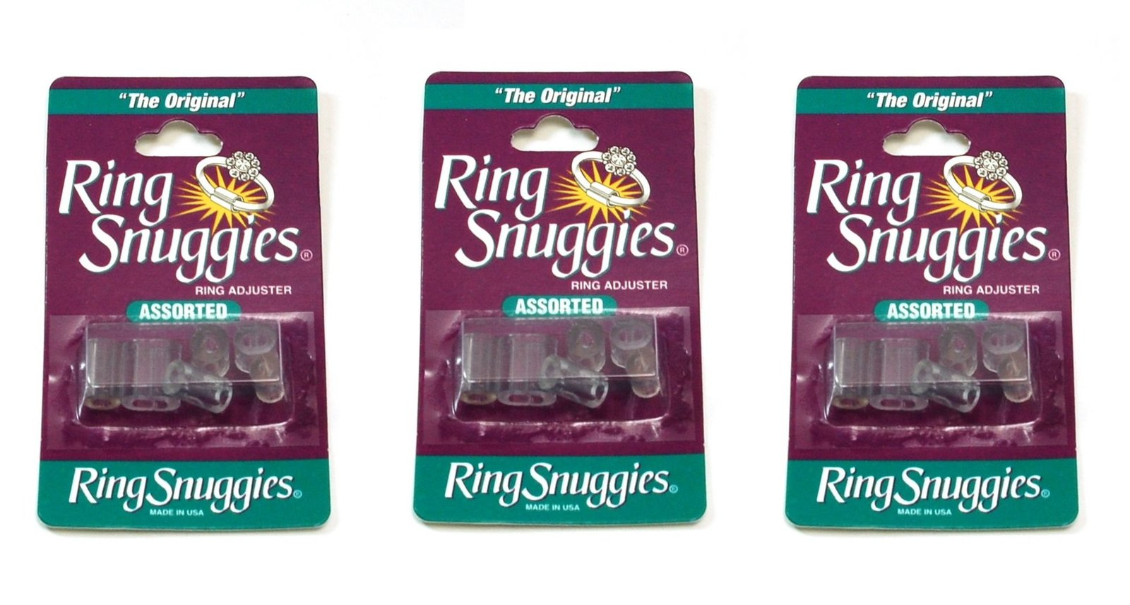 3 X Ring Snuggies The Original Ring Adjusters Assorted