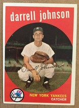 1959 Topps #533 Darrell Johnson Baseball Card EX+/NM Condition Yankees RF1 - $8.99