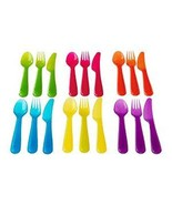 Ikea Kalas 901.929.62 18-Piece BPA-Free Flatware Set Multicolored - $5.38