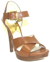 Women's Shoes Michael Kors OKSANA SANDAL Crisscross Sandal Heels Leather... - $89.99
