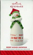 2014 Hallmark Keepsake Ornament - Merry Wishes Snowman - Limited Edition - $3.95