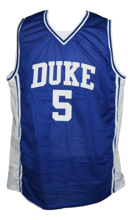 Jeff Capel #5 Custom College Basketball Jersey New Sewn Blue Any Size