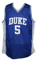 Jeff Capel #5 Custom College Basketball Jersey New Sewn Blue Any Size image 1