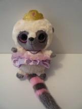 "YooHoo 9"" Friends Lemur Pink Grey with Crown Plush Stuffed Animal Aurora - $12.86"
