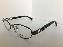 New COACH HC 6250 1790 52mm Dark Silver/Black Rx Women Eyeglasses Frame - $149.99