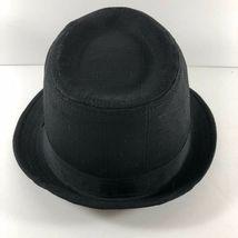 Vintage DPC Authentic cotton linen Black Fedora Hat sz L Handmade Headwear image 4