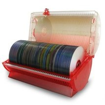 Discgear Disc Select 80 Disc Retrieval System - Red (Stores 80 CD, DVD, ... - $66.50