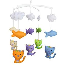 [Cute Animals]Baby Musical Mobile, Unique Nursery Mobiles, Colourful Han... - $49.24