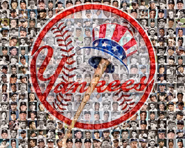 NY Yankees Player Mosaic Print Art Using 200 of the greatest Yankee Players - $30.00+