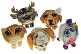 Novelty Fur Balls Photo Animal Plush Stuffed Lot Dog Cat Unicorn Rabbit ... - $13.39