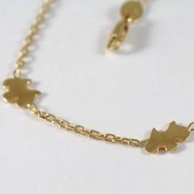 Bracelet en or Jaune 750 18K Avec Chien , Chien Yorkshire, 18.5 CM Longueur image 2