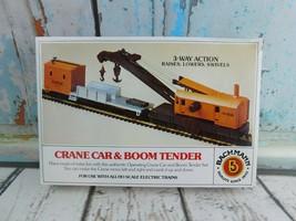 Vtg Bachmann 1438 Crane Car & Boom Tender HO Scale NOS - $24.74
